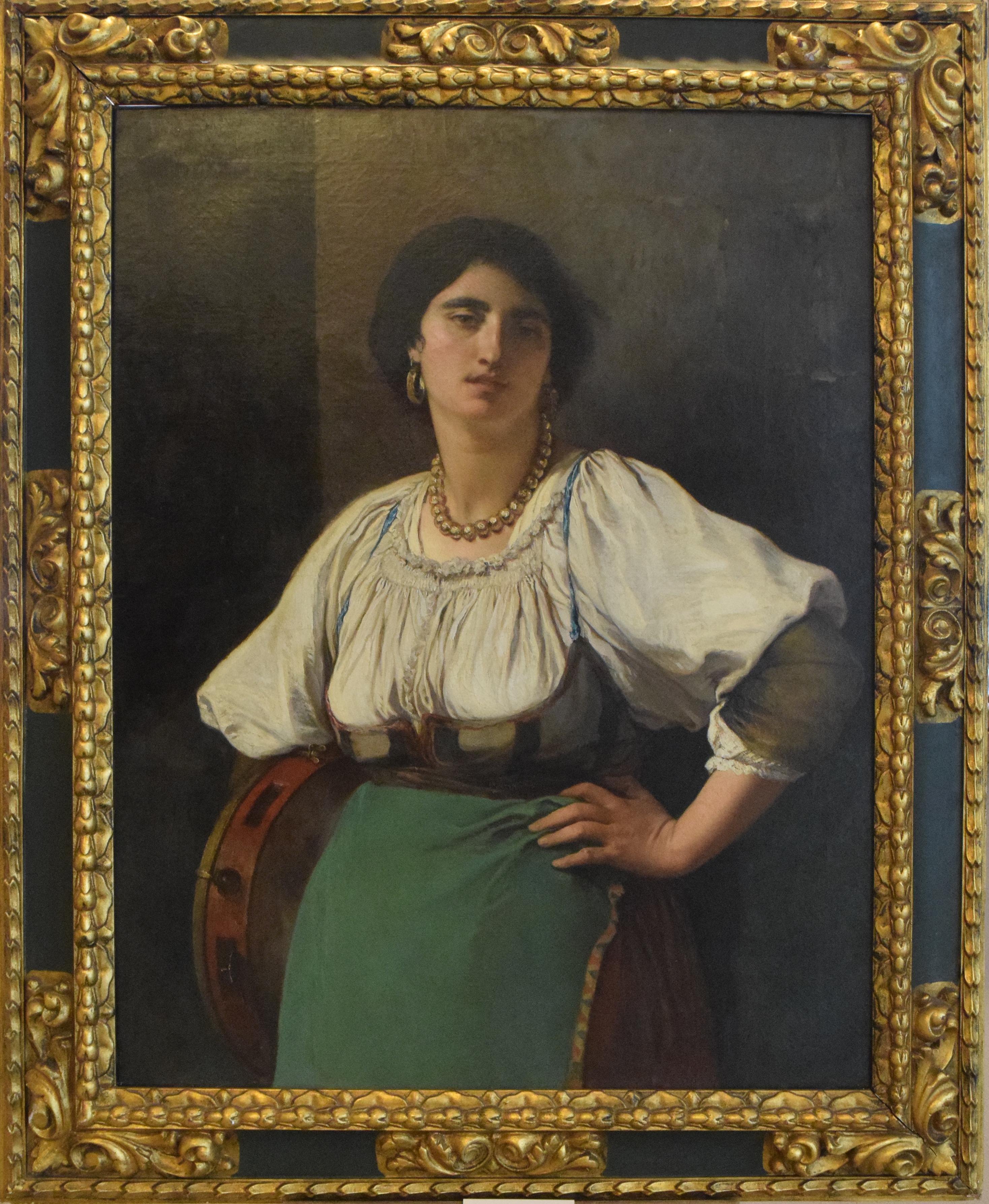 26-michele-cammarano-1835-1920-donna-con-tamburello