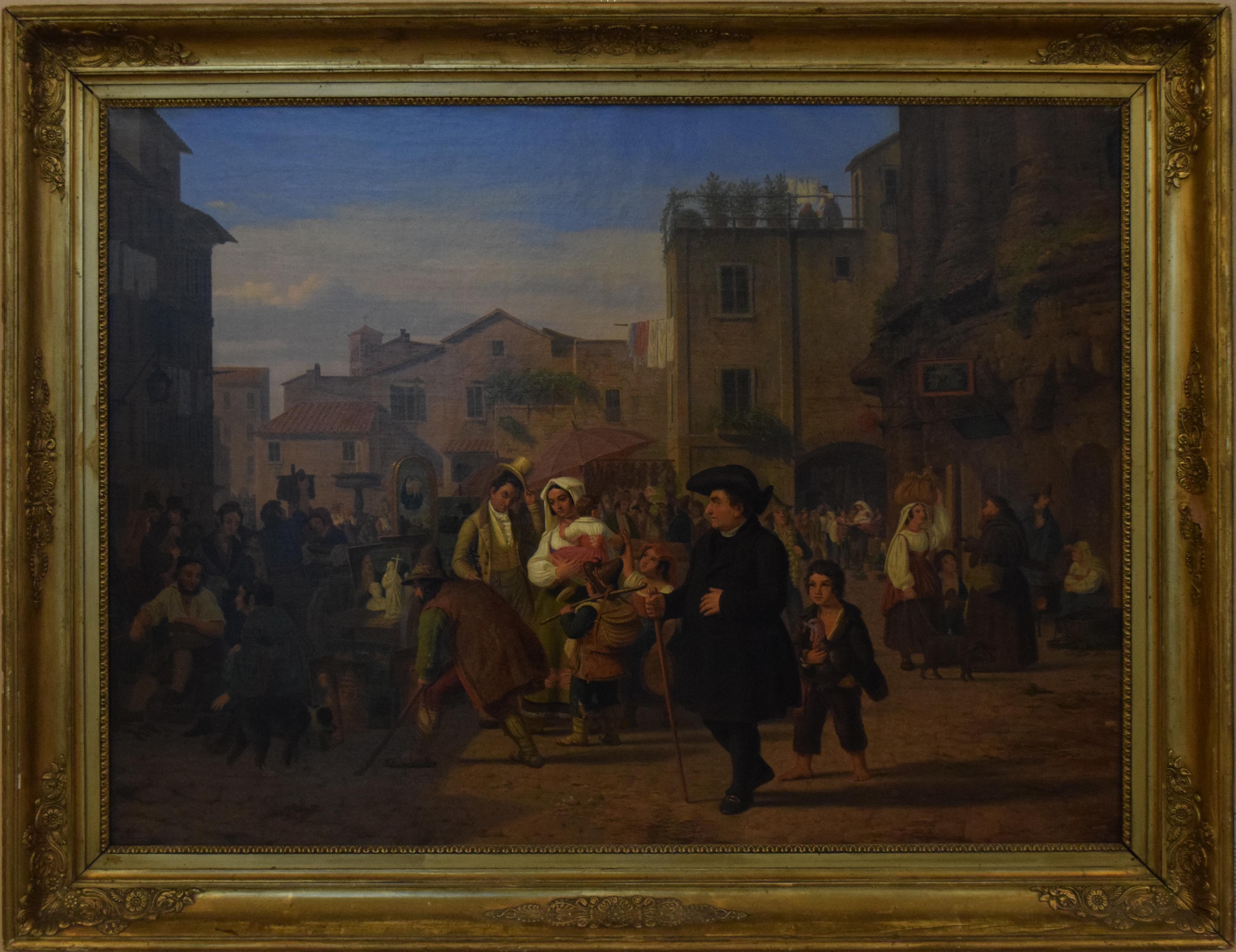 27-peter-raadsig-1806-1882-piazza-montanara-teatro-marcello-roma