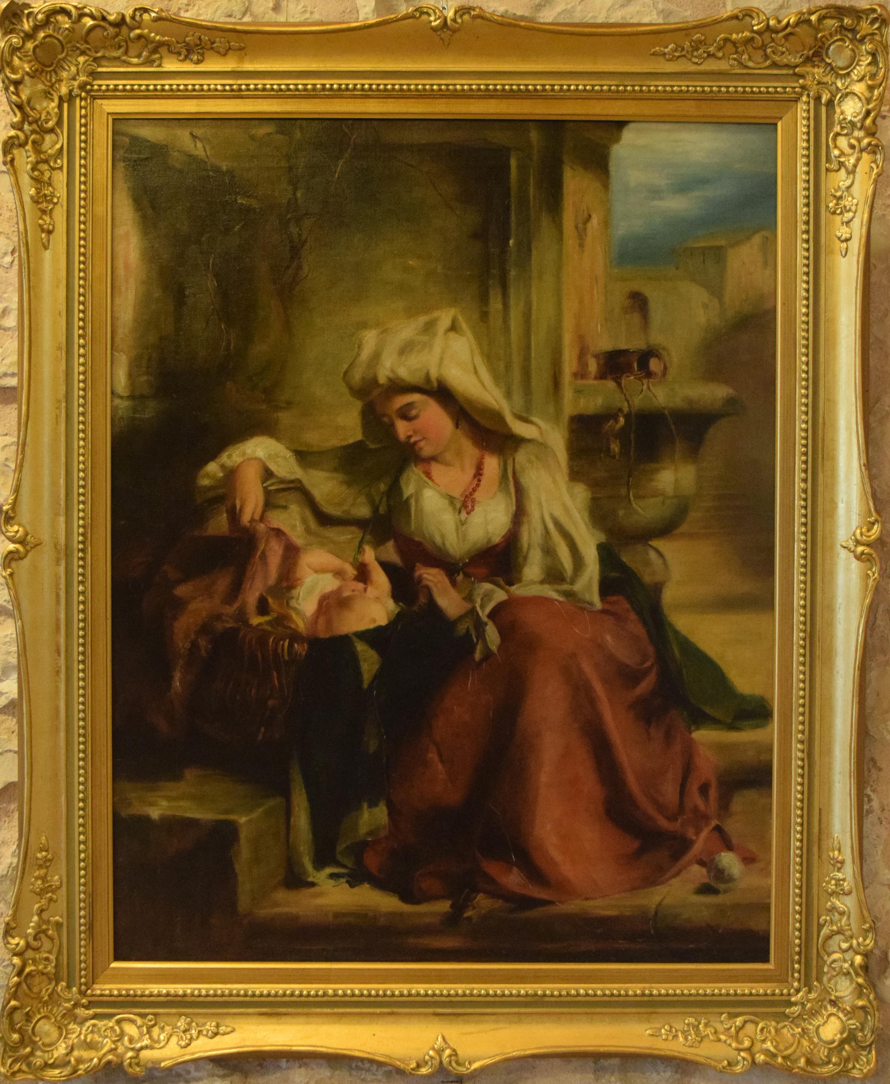 36-ignoto-donna-romana-con-bambino