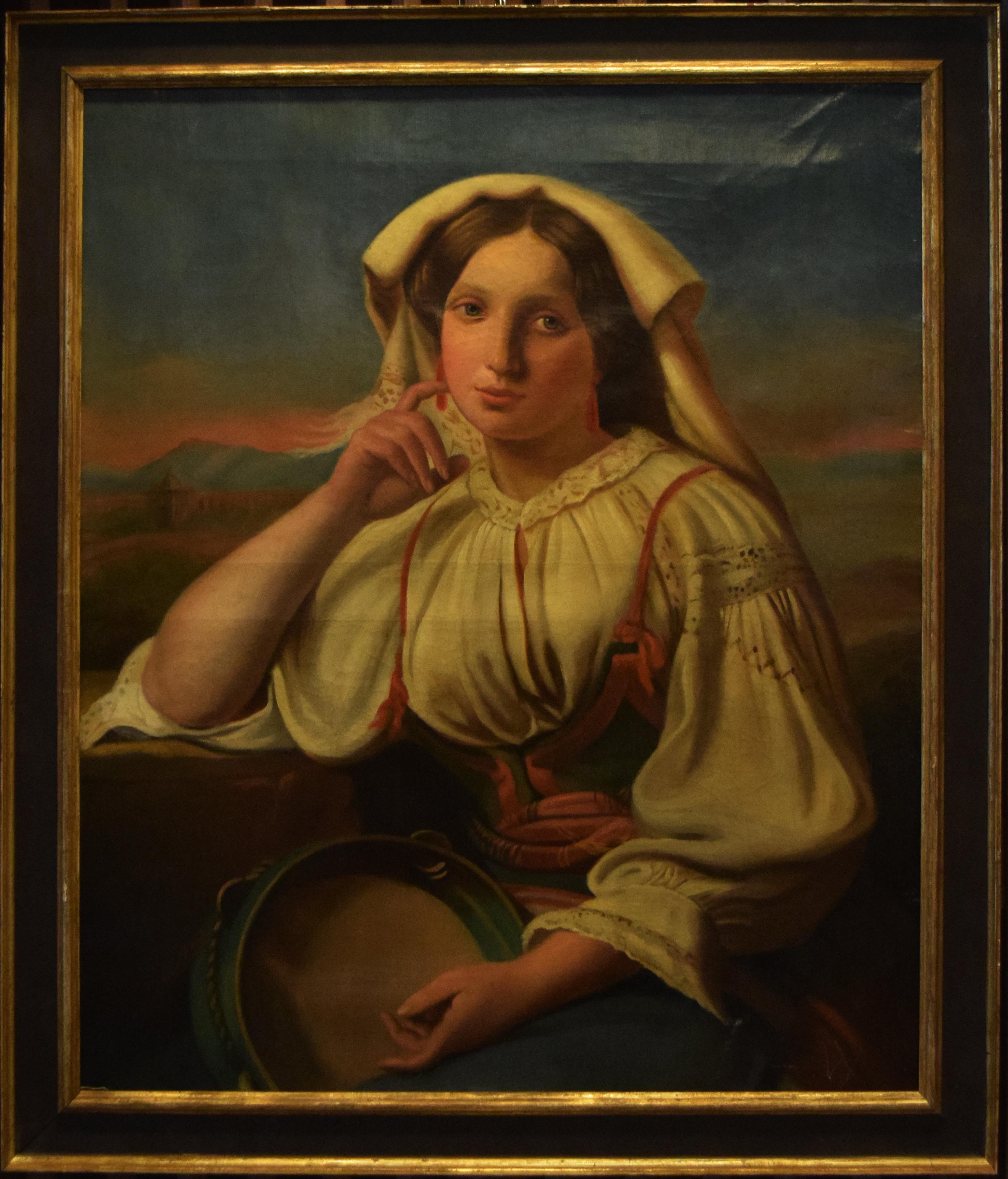 37-albert-robint-donna-romana-con-tamburello