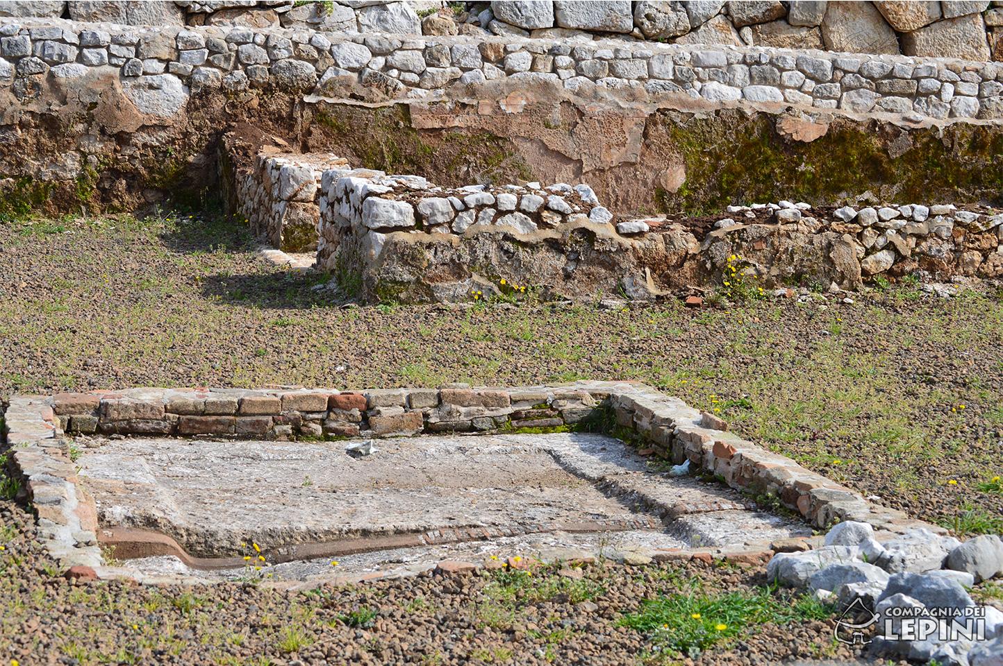 Antica vasca centrale per la raccolta delle acque piovane