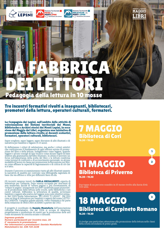 Cori: La fabbrica dei Lettori @ Biblioteca di Cori | Cori | Lazio | Italia