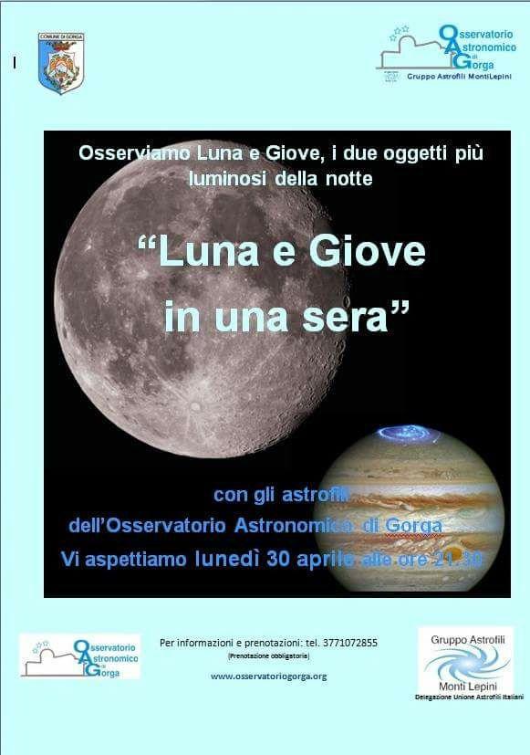 Gorga, Luna e Giove in una sera @ Gorga | Lazio | Italia