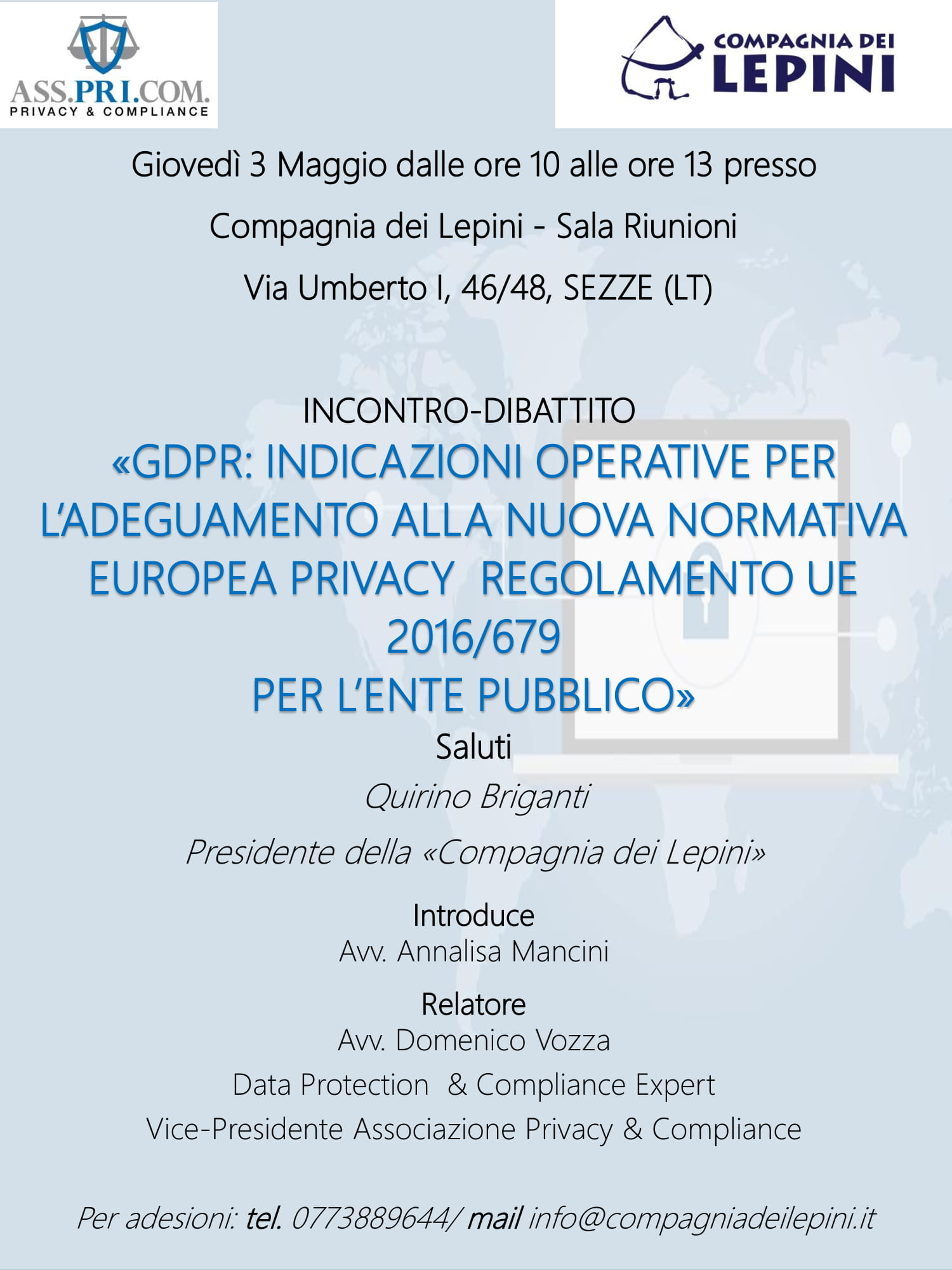 Incontro-Dibattito Compagnia dei Lepini @ Compagnia dei Lepini | Sezze | Lazio | Italia