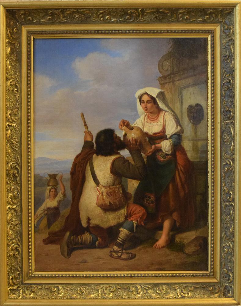 penry-williams-1802-1885-incontro-con-pellegrino-alla-fontana