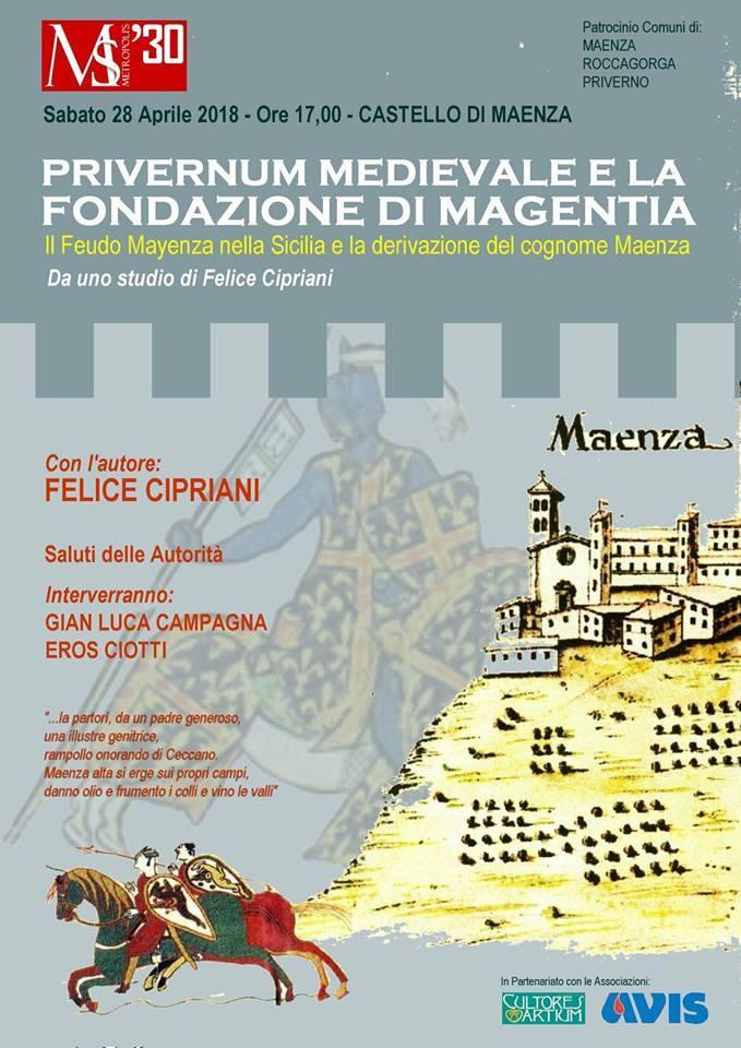 Presentazione libro: Privernum medievale e la fondazione di Magentia @ Castello Baronale di Maenza | Maenza | Italia