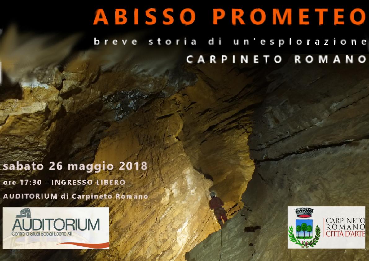 Carpineto Romano: Abisso Prometeo @ Auditorium centro di studi sociali Leone XII | Carpineto Romano | Italia
