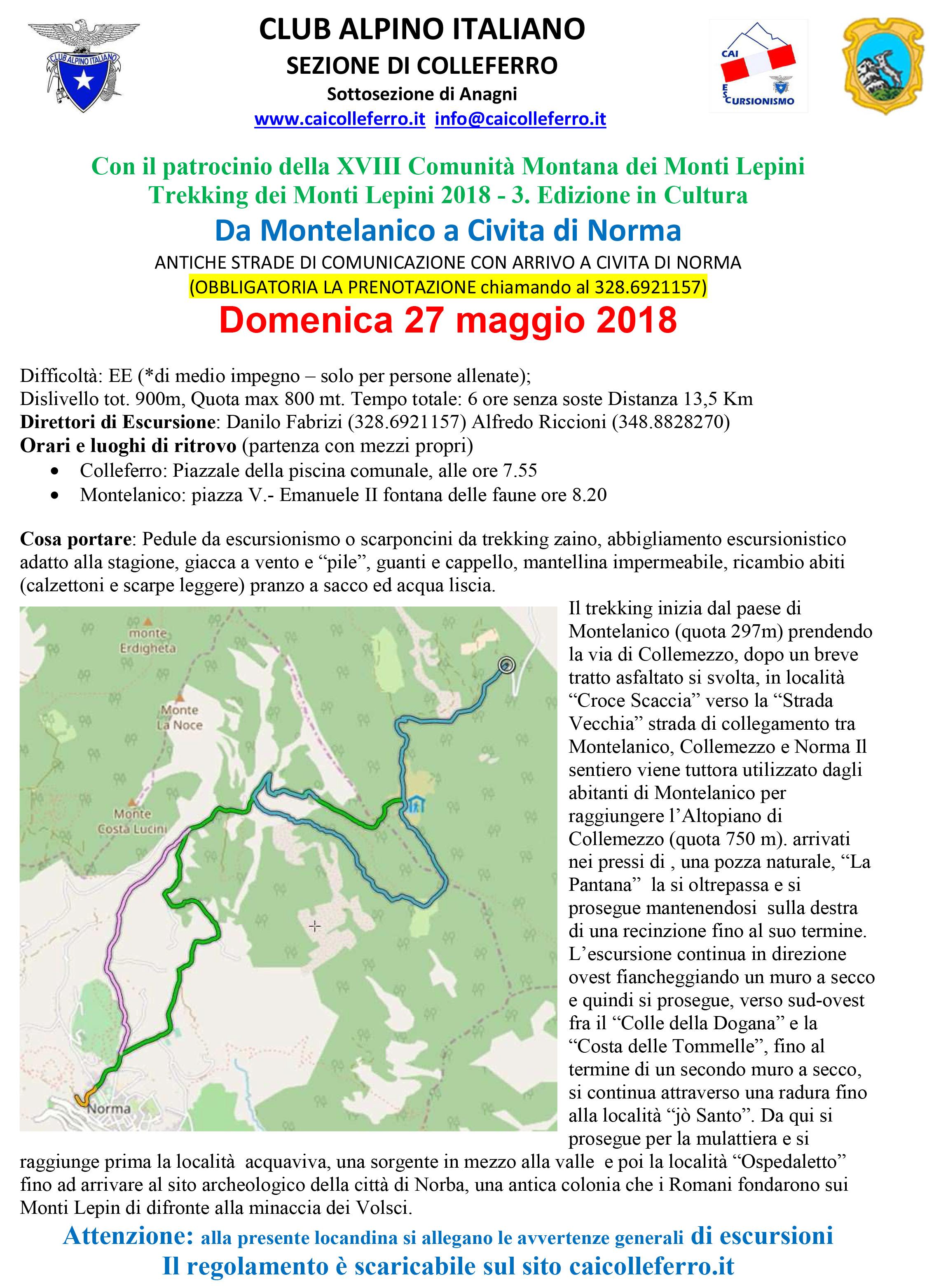 3* Trekking dei Monti Lepini: Via di comunicazione @ Fontana delle Faune | Montelanico | Lazio | Italia