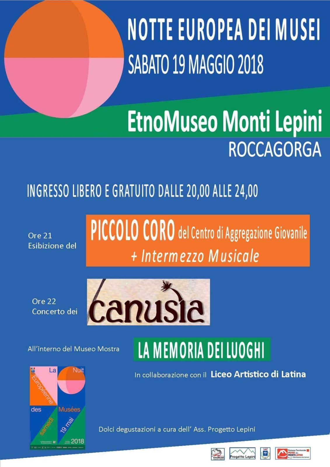 Roccagorga: La notte europea dei musei @ EtnoMuseo dei Monti Lepini | Roccagorga | Lazio | Italia