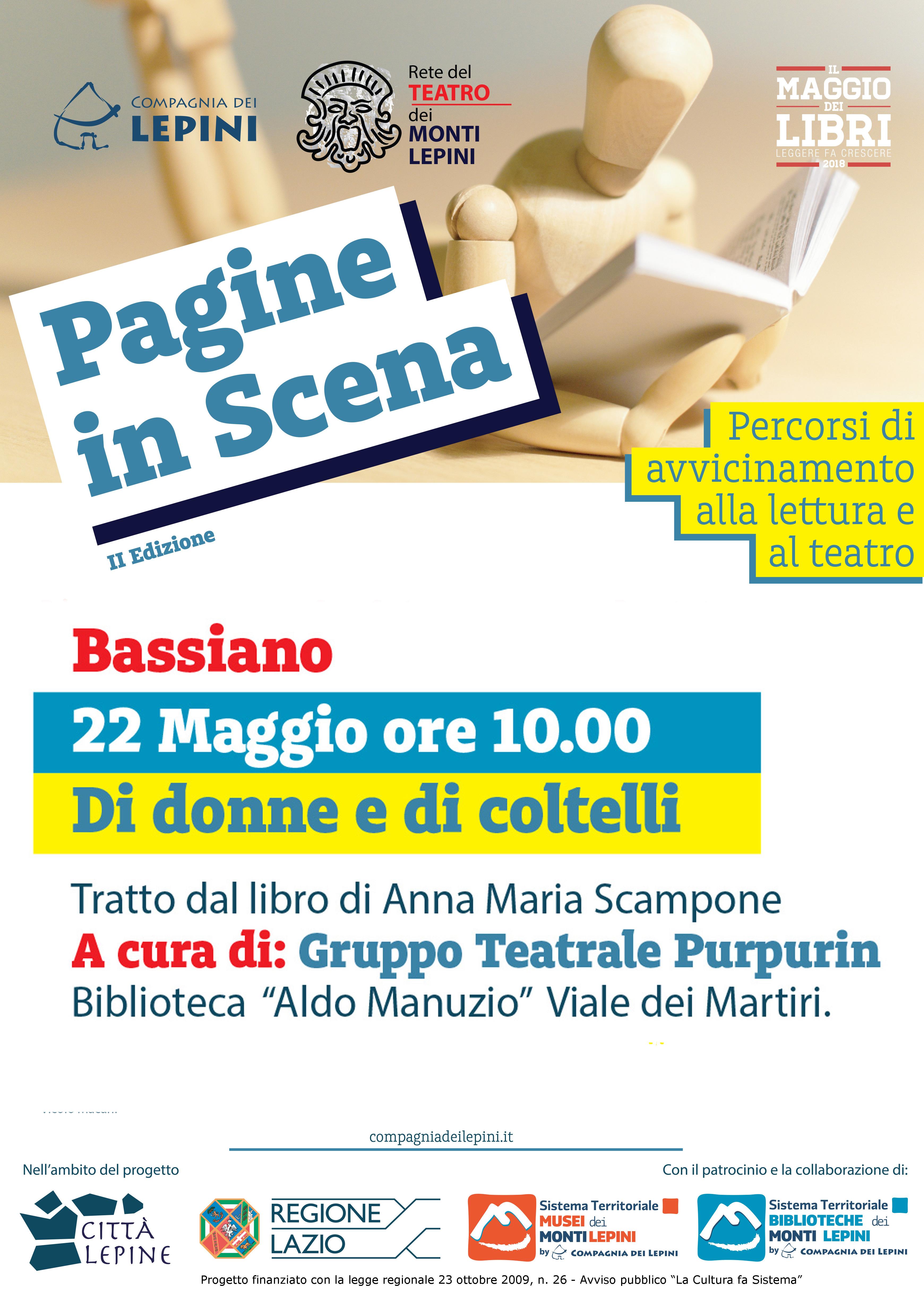 Pagine in scena Bassiano: Di donne e di Coltelli @ Biblioteca Aldo Manuzio | Bassiano | Lazio | Italia