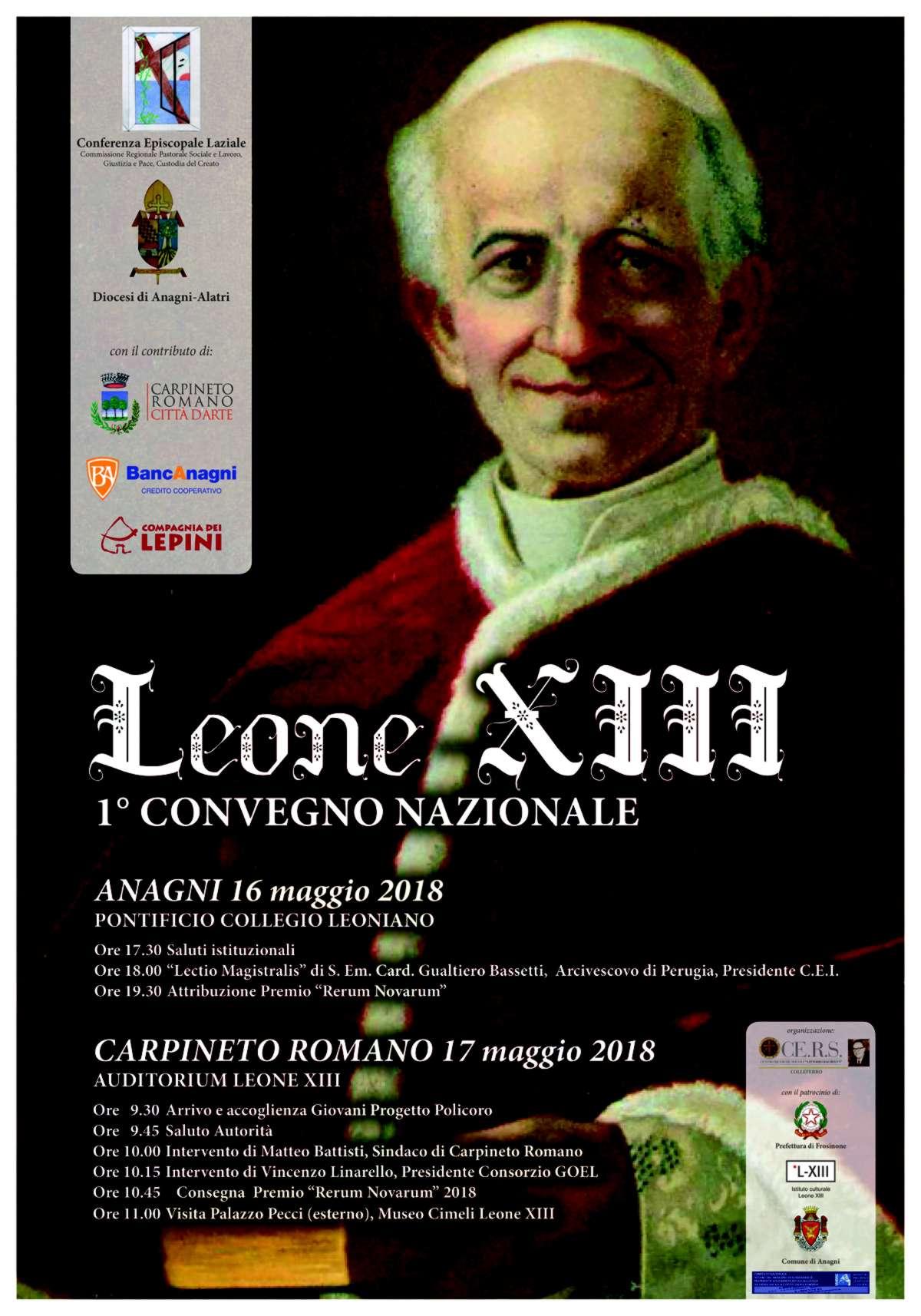 Carpineto Romano: 1 convegno Leone XIII @ Auditorium Leone XIII, Carpineto Romano | Carpineto Romano | Italia
