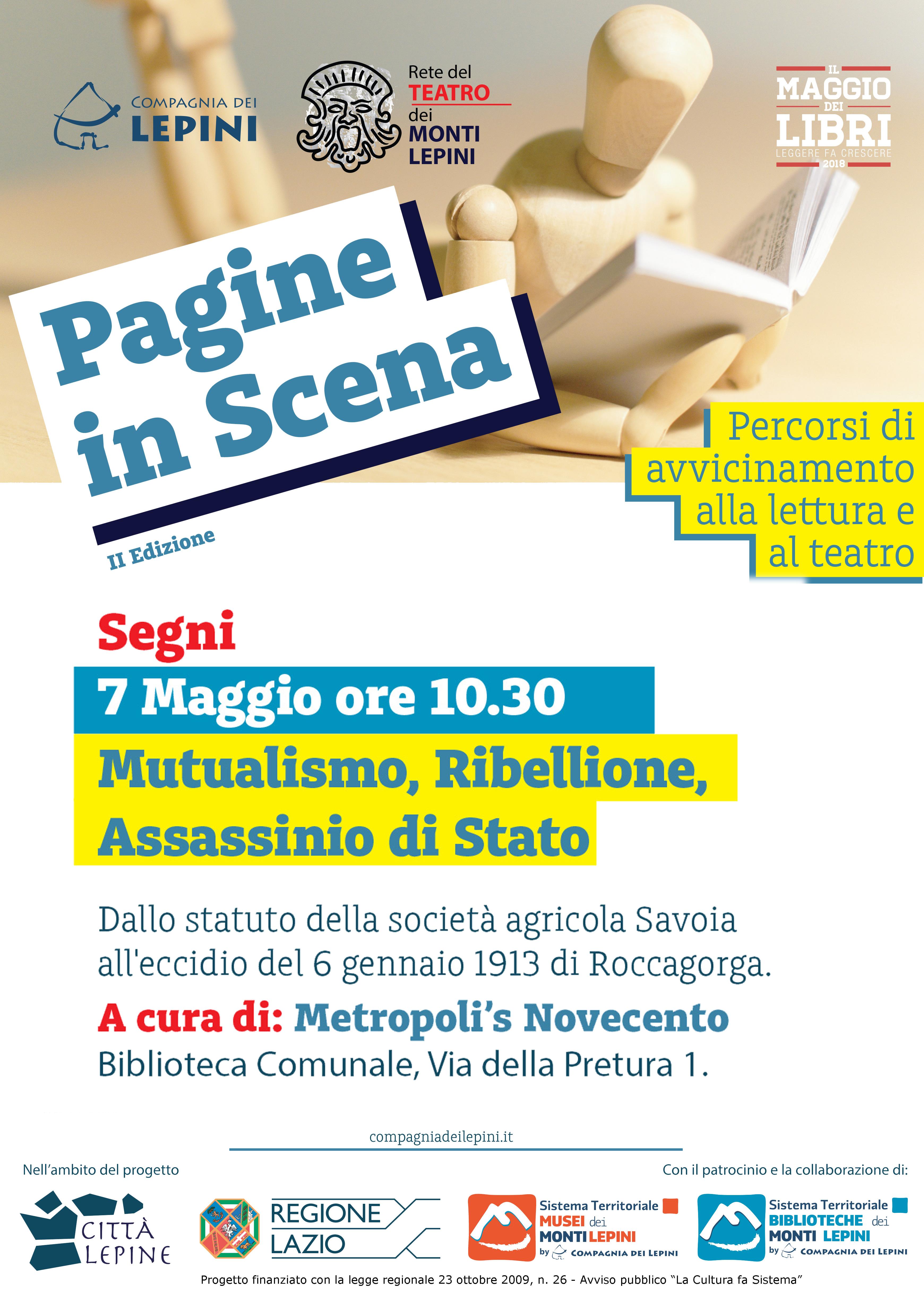 Pagine in scena Segni: Mutualismo, Ribellione, Assassinio di Stato @ Biblioteca Comunale | Segni | Lazio | Italia