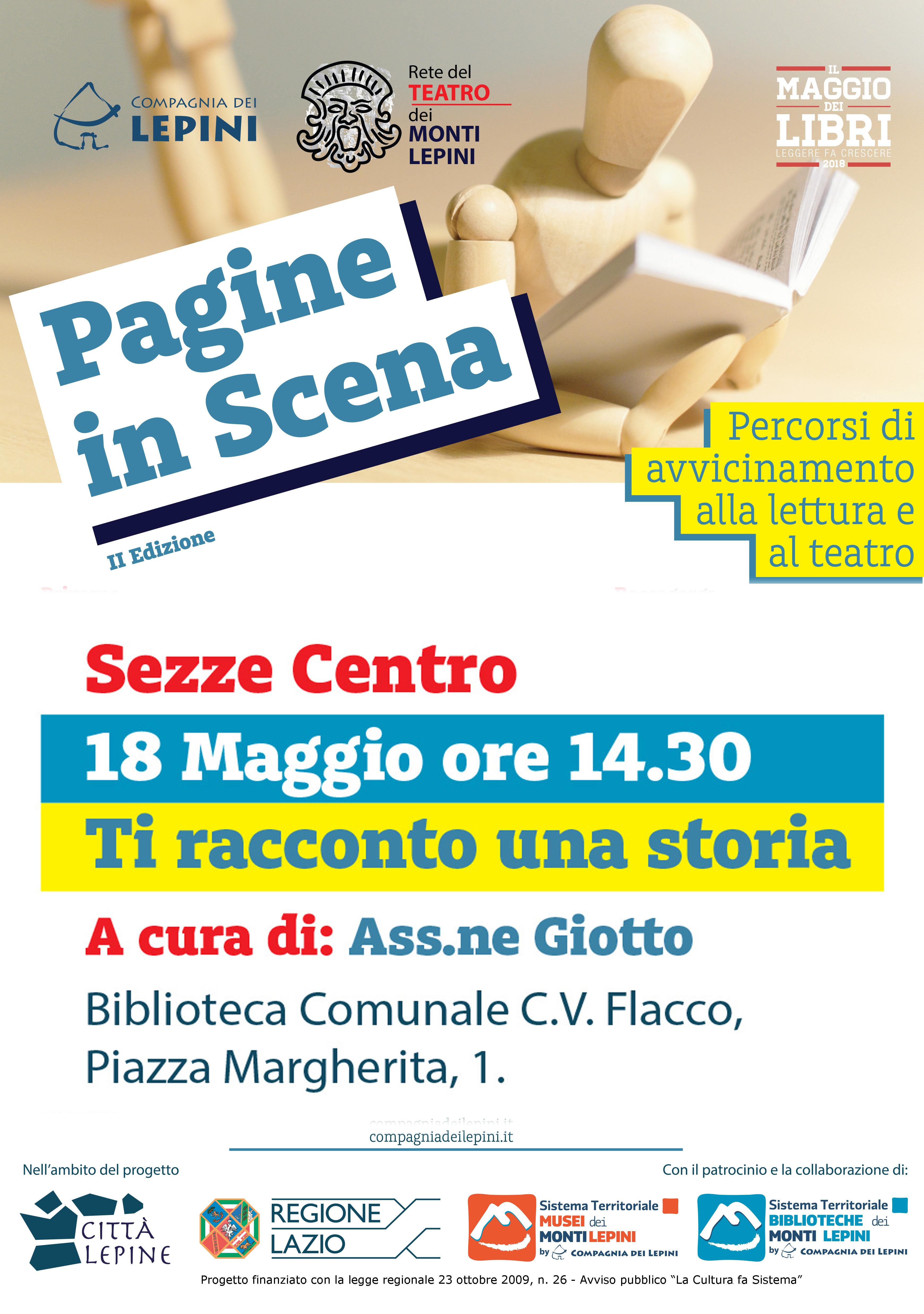 Pagine in scena Sezze: Ti racconto una storia @ Biblioteca Caio Valerio Flacco | Sezze | Lazio | Italia