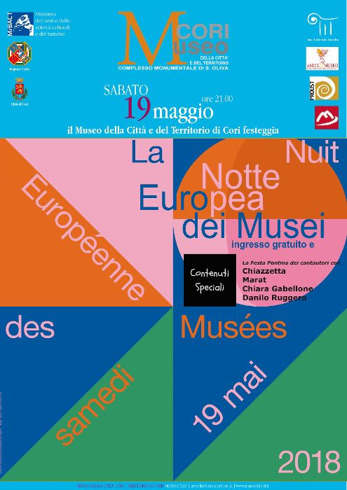 Cori: La notte europea dei Musei @ Complesso monumentale di S.Oliva | Cori | Lazio | Italia
