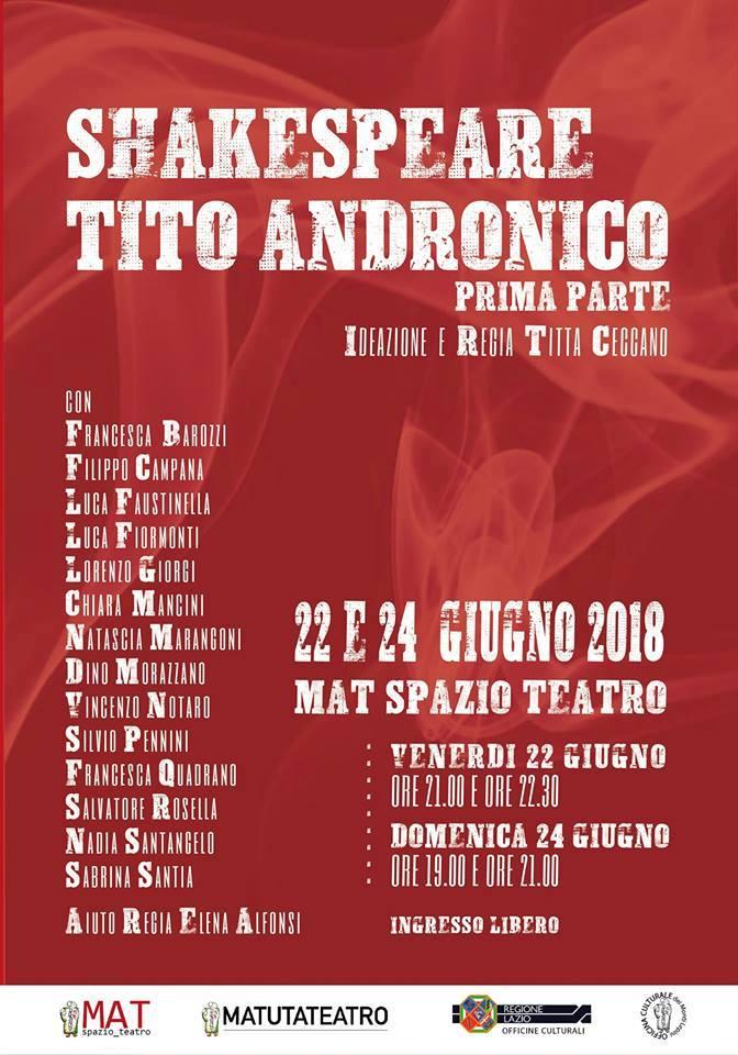 Shakespeare Tito Andronico @ Mat Spazio Teatro | Sezze | Lazio | Italia