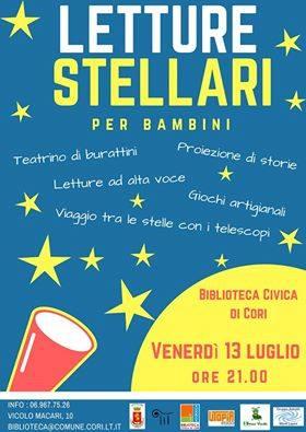 Cori: Letture stellari per bambini @ Biblioteca di Cori | Cori | Lazio | Italia