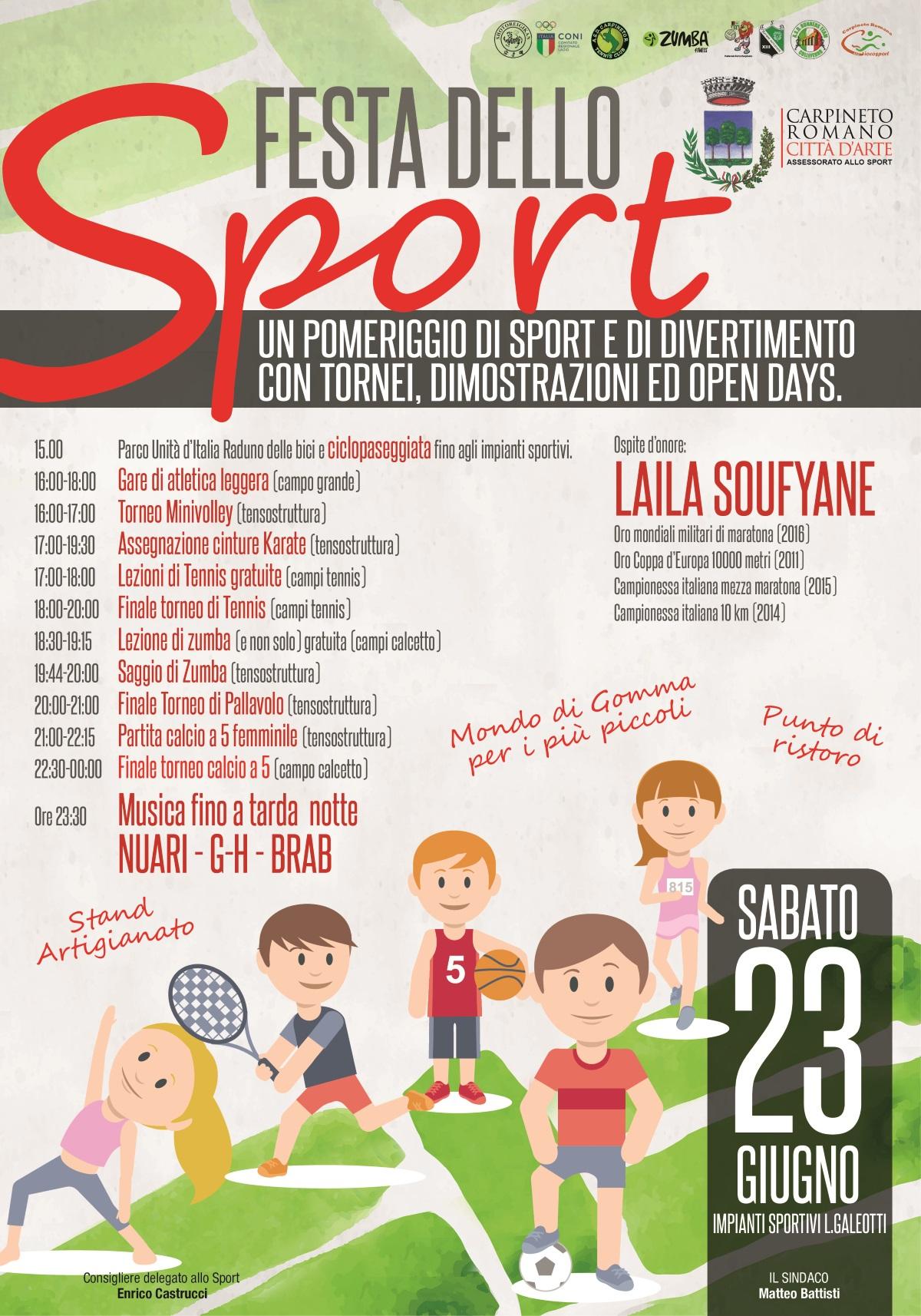 Carpineto Romano: Festa dello Sport @ campi sportivi L. Galeotti | Carpineto Romano | Lazio | Italia