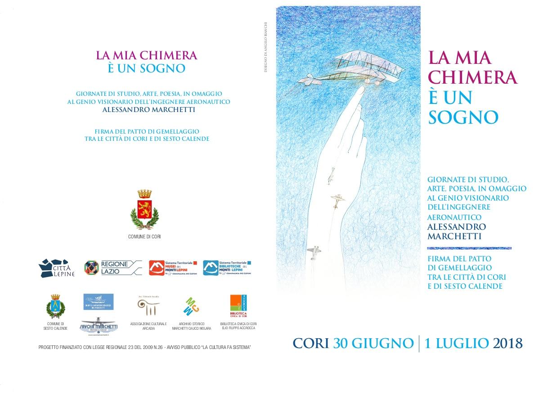 Città Lepine Cori: La mia Chimera è un sogno @ Biblioteca civica Elio Filippo Accrocca, Chiostro di Sant'Oliva | Cori | Lazio | Italia