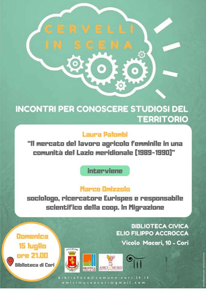 Cori, Cervelli in Scena @ Biblioteca di Cori | Cori | Lazio | Italia