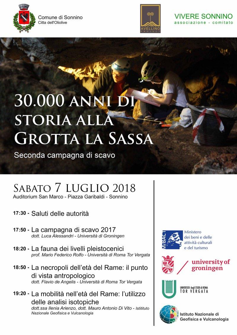 30.000 anni di storia alla grotta La Sassa @ Auditorium San Marco | Sonnino | Lazio | Italia