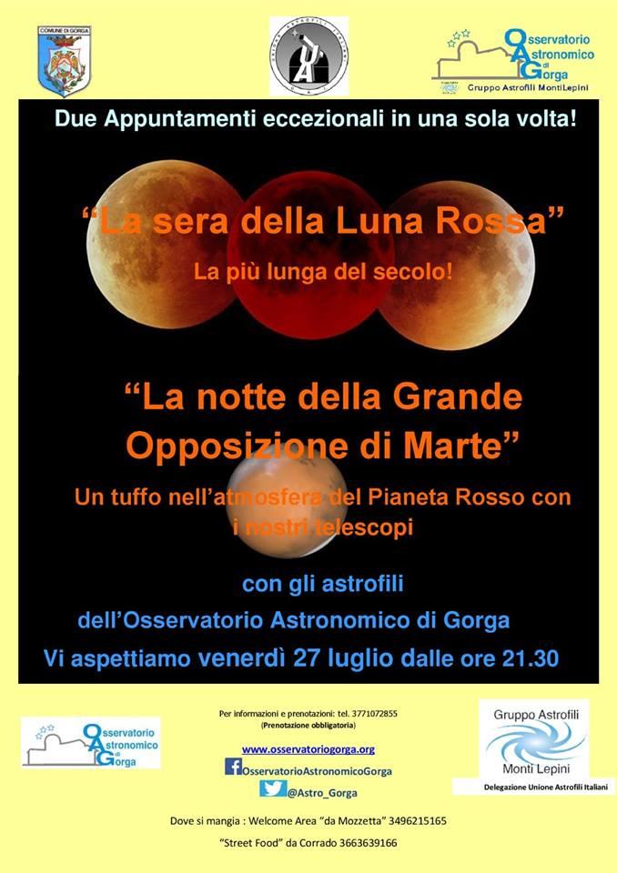 Gorga: Doppio appuntamento all'osservatorio astronomico @ osservatorio astronomico | Gorga | Lazio | Italia