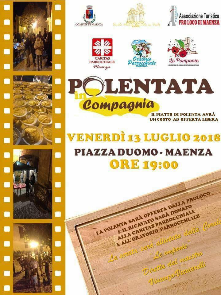Maenza: Polentata in Compagnia @ Piazza Duomo Maenza | Maenza | Lazio | Italia