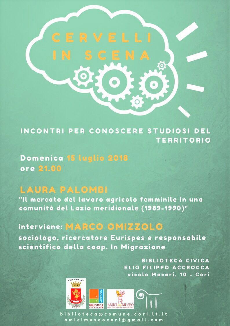 Cori: Cervelli in scena @ Biblioteca Civica Elio Filippo Accrocca | Cori | Lazio | Italia