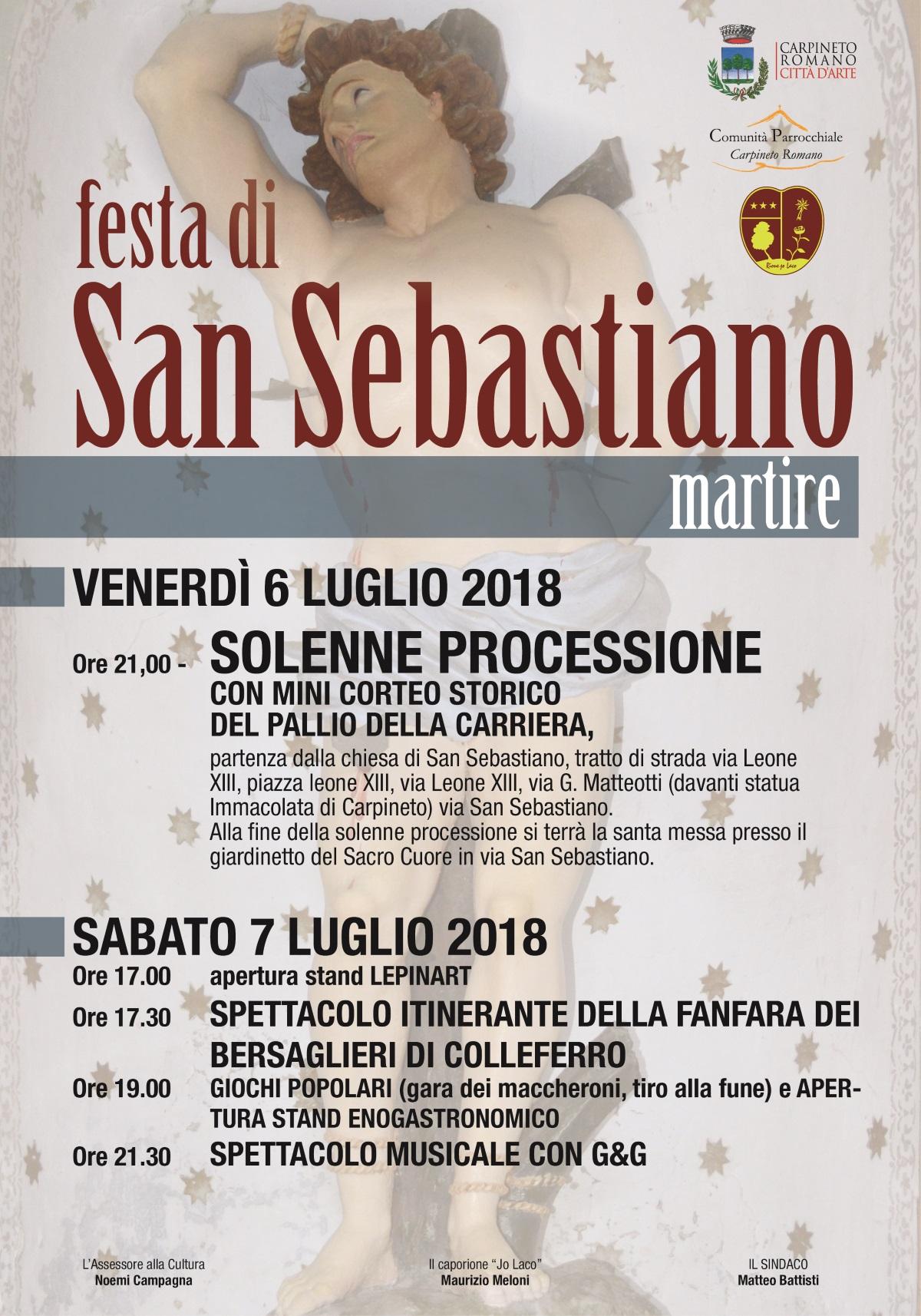 Carpineto: Festa di San Sebastiano Martire @ Chiesa di San Sebastiano | Carpineto Romano | Lazio | Italia