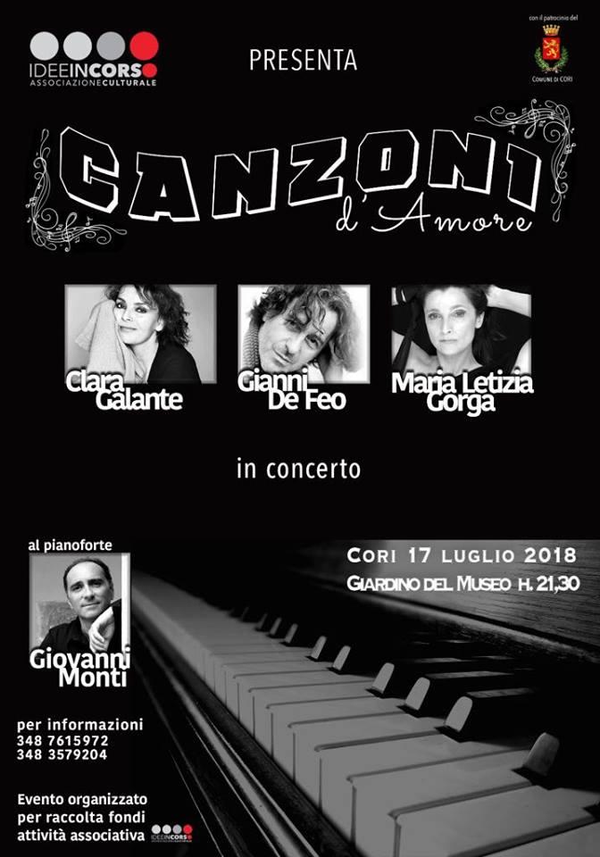 Cori: Canzoni d'amore @ Giardini del Museo | Cori | Lazio | Italia