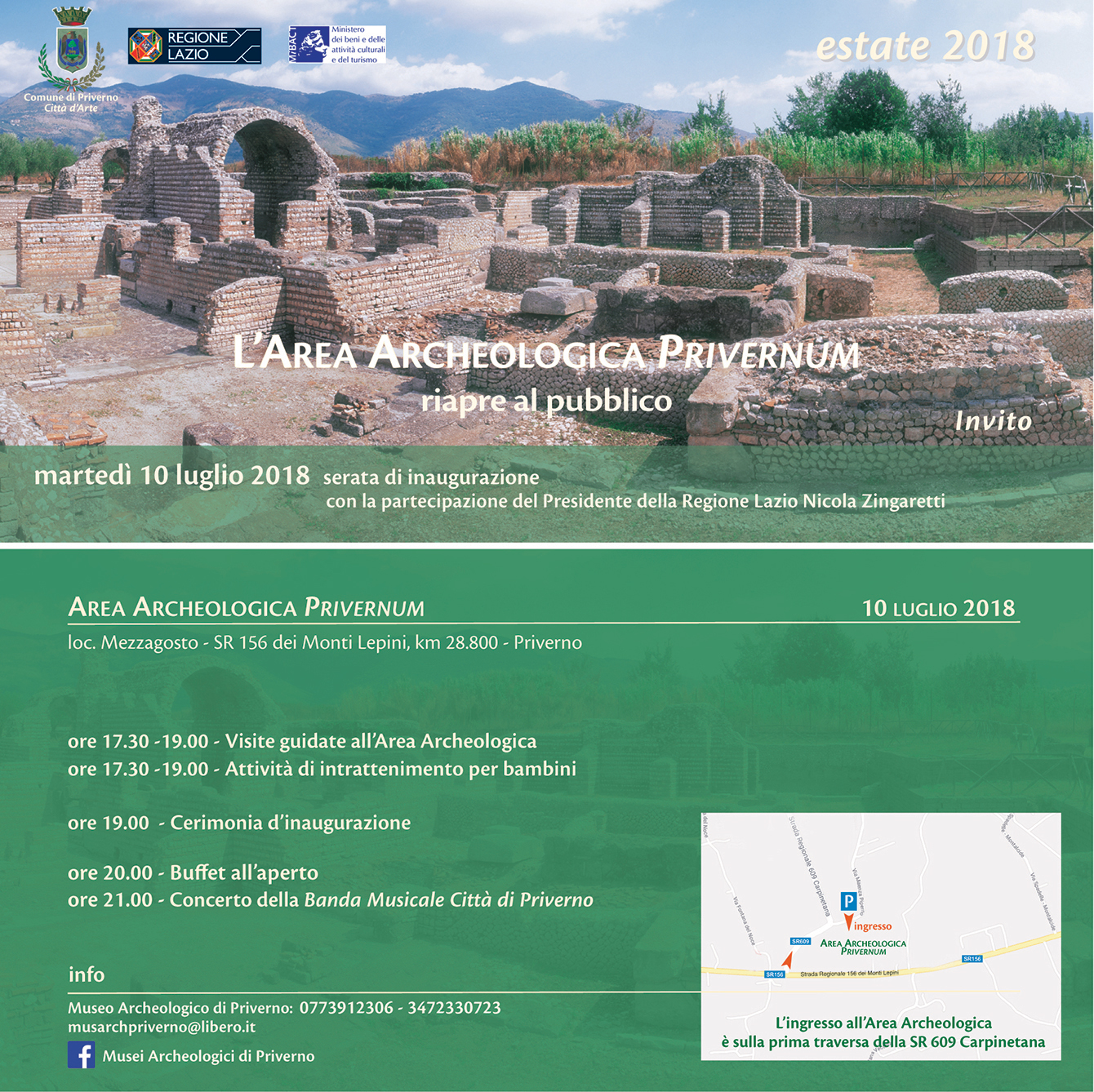 Priverno: Riapertura dell'area Archeologica di Privernum @ Area Archeologica Privernum | Mezzagosto | Lazio | Italia