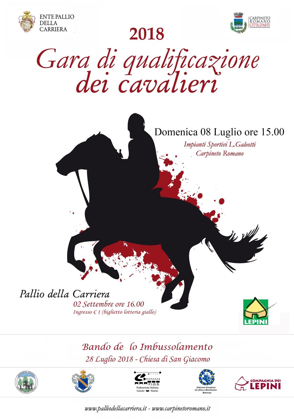 Carpineto Romano: Gara di qualificazione dei cavalieri 2018 @ Impianti Sportivi L. Galeotti | Carpineto Romano | Lazio | Italia
