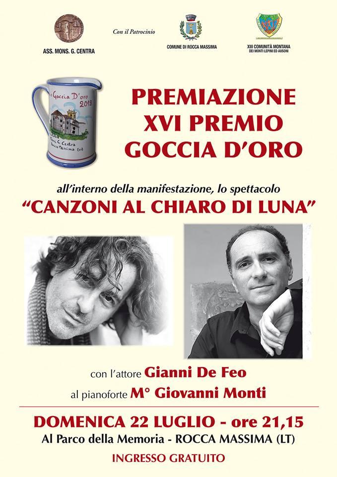 Rocca Massima, premiazione 16° edizione Premio Goccia d'Oro @ Parco della Memoria, Rocca Massima | Rocca Massima | Lazio | Italia