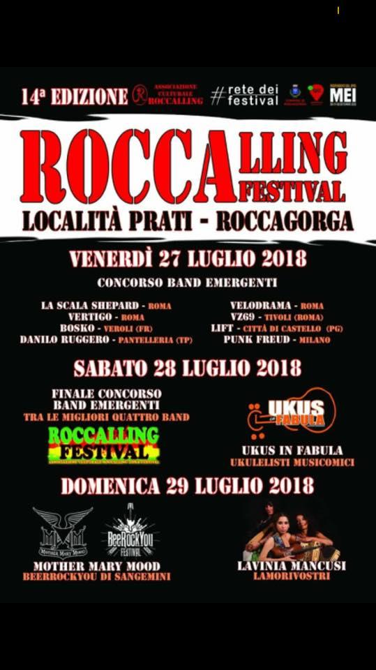 Roccagorga: Roccalling Festival @ Località Prati | Roccagorga | Lazio | Italia