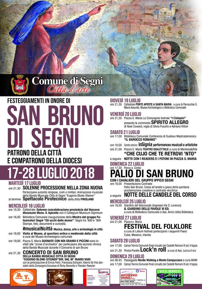 Segni: Festeggiamenti in onore di San Bruno @ Lazio | Italia