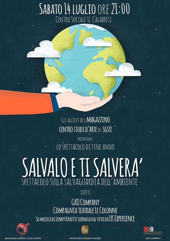 Sezze: Salviamolo e ti salverà @ Centro sociale U. Calabresi | Sezze | Lazio | Italia