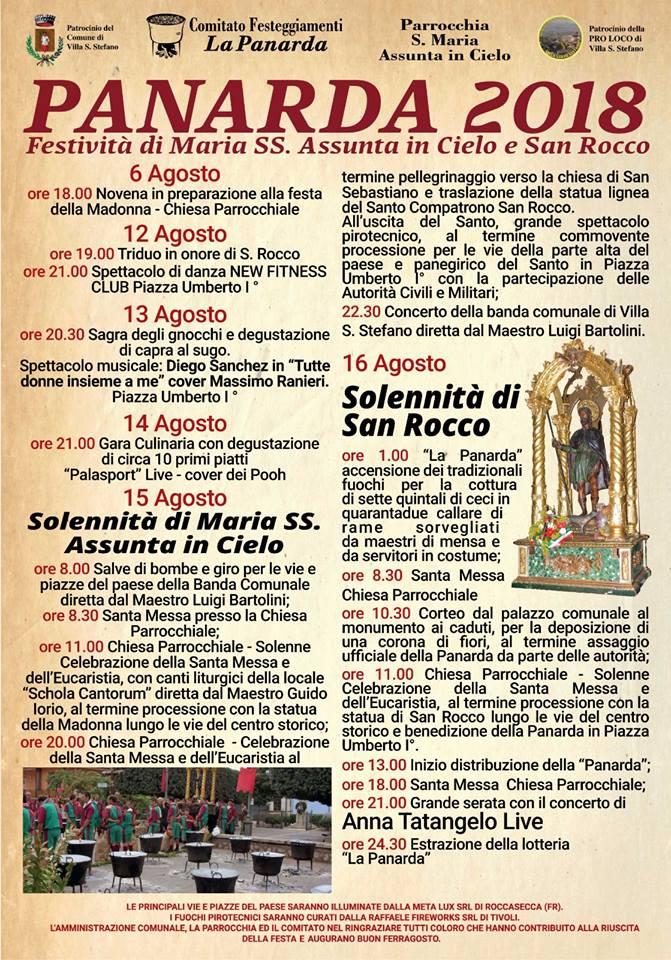 Panarda 2018 @ Villa S. Stefano | Villa Santo Stefano | Lazio | Italia