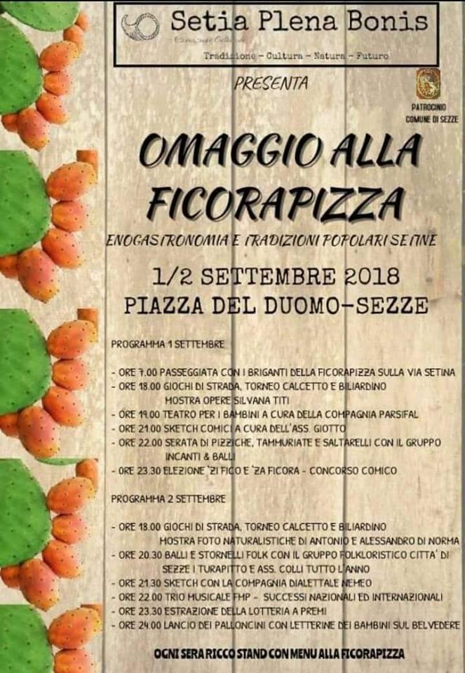 Sezze: Omaggio alla Ficorapizza @ Piazza del Duomo   Sezze   Lazio   Italia