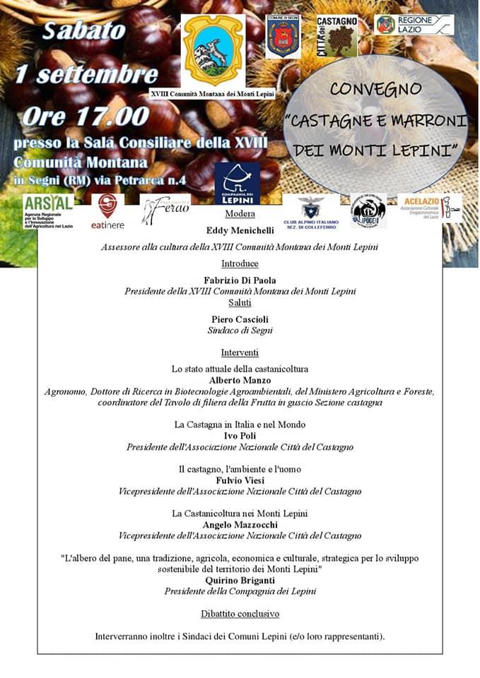 """Convegno """"castagne e marroni dei Monti Lepini"""" @ Sala Consiliare della XVIII Comunità Montana   Segni   Lazio   Italia"""
