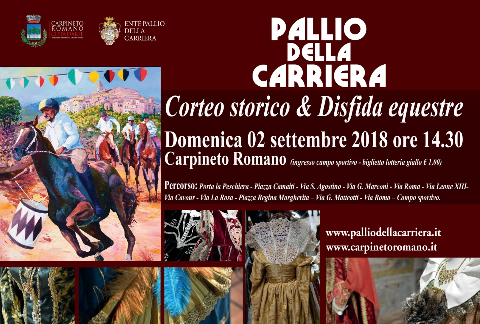Carpineto Romano: Pallio della carriera @ Centro storico   Carpineto Romano   Lazio   Italia