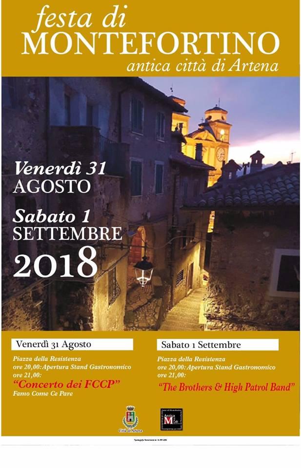Artena: Festa di Montefortino @ Piazza della Resistenza   Colubro   Italia