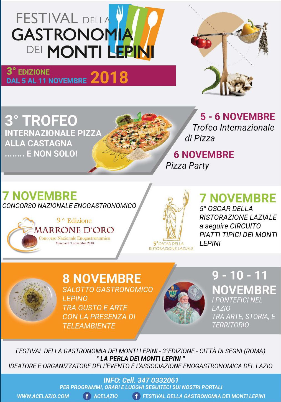 III Festival della Gastronomia dei Monti Lepini 2018 @ Lazio | Italia