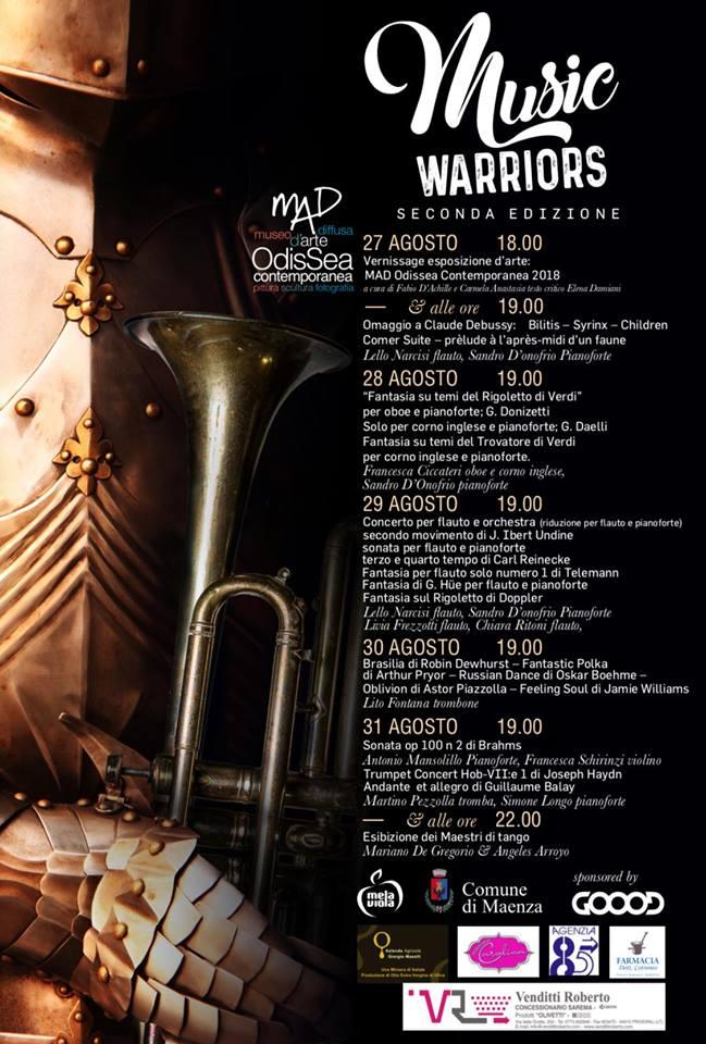 Maenza: Music Warriors @ Castello Baronale   Maenza   Lazio   Italia