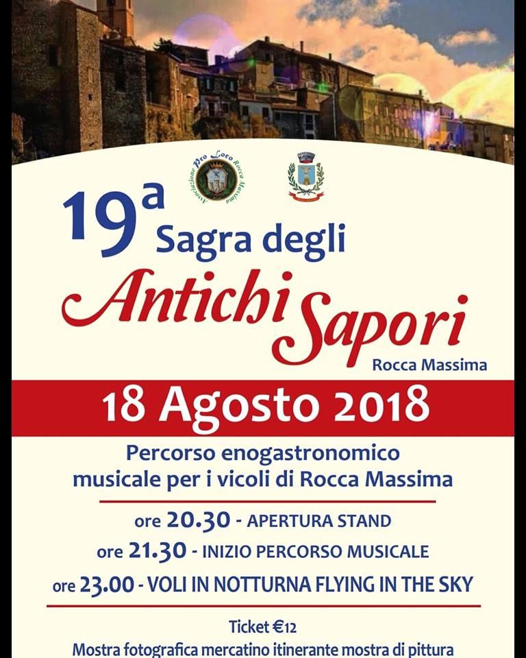 Rocca Massima, 19° Sagra degli Antichi Sapori @ Rocca Massima | Rocca Massima | Lazio | Italia