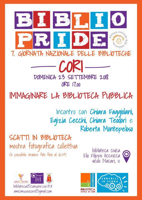 Cori: Bibliopride, giornata nazionale delle biblioteche @ Biblioteca civica Accrocca   Cori   Lazio   Italia
