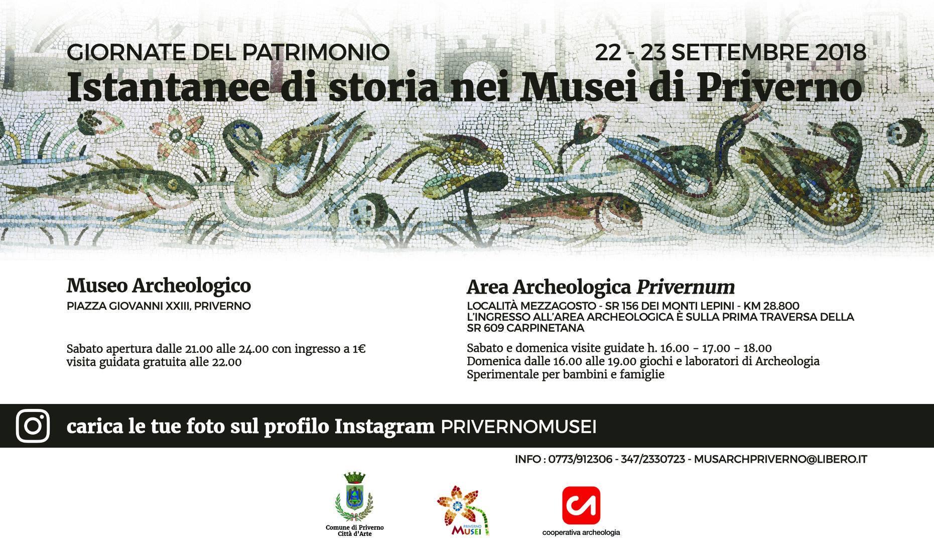 Priverno: Giornate europee del patrimonio @ Museo archeologico - Area archeologica   Priverno   Lazio   Italia