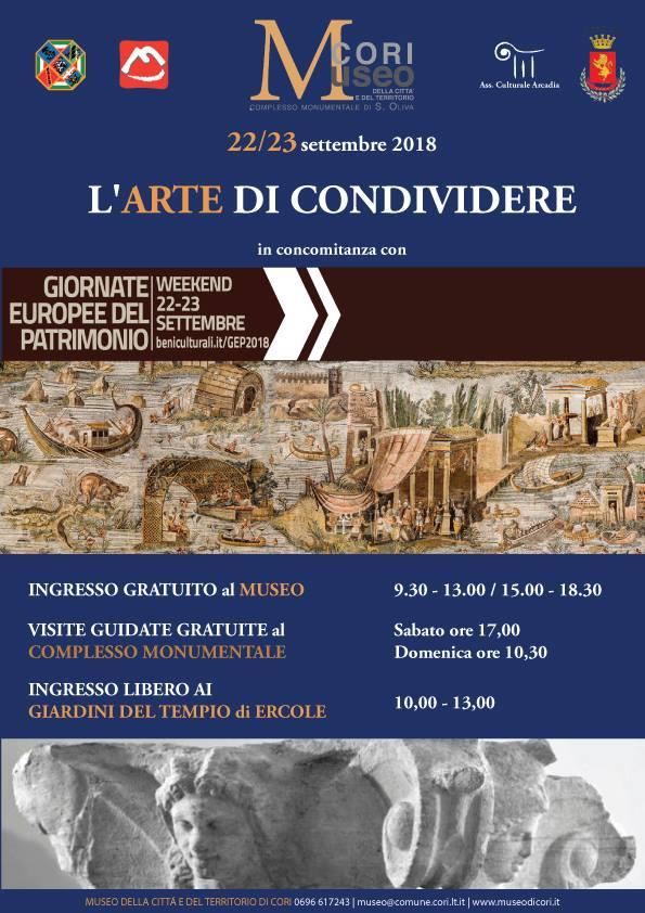 Cori: L'arte di condividere @ Museo della Città e del Territorio   Cori   Lazio   Italia