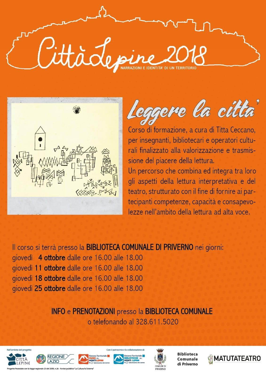 Città Lepine Priverno: Leggere la città @ Biblioteca Comunale | Priverno | Lazio | Italia