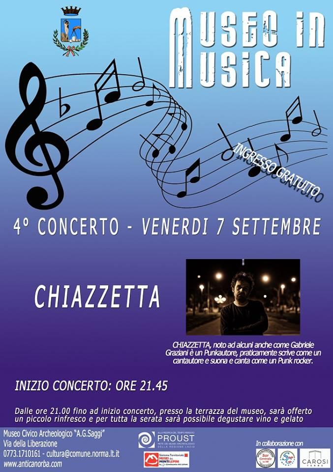 Norma: Museo in musica @ Museo civico archeologico A.Saggi   Norma   Lazio   Italia