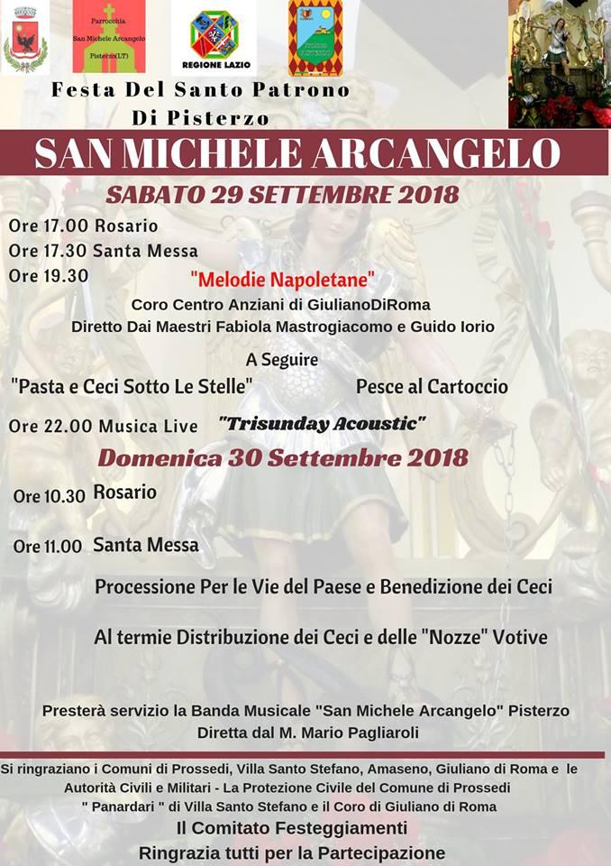 Pisterzo: festeggiamenti in onore di San Michele Arcangelo @ Pisterzo | Pisterzo | Lazio | Italia