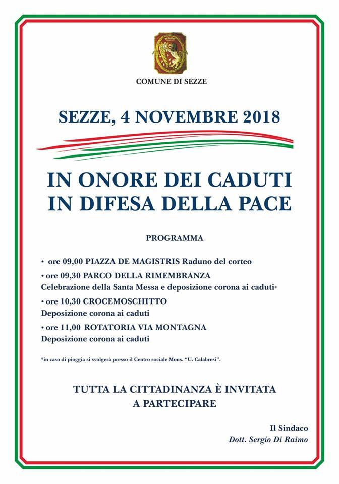 Sezze: In onore dei caduti in difesa della pace @ Sezze | Sezze | Lazio | Italia